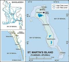 map of st the map of st martin s island bangladesh source www