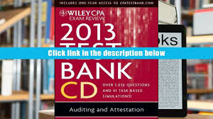 audiobook wiley cpa exam review 2013 test bank cd auditing and