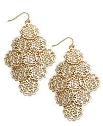 gold chandelier earrings sequin earrings gold tone circle filigree chandelier earrings