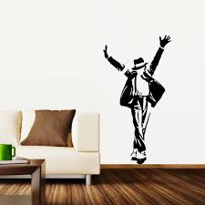 hot michael jackson removable wall 3d sticker wall decor decal art hot michael jackson removable wall 3d sticker wall decor decal art wall paper poster adhesive home decor parede freeshipping in wall stickers from home