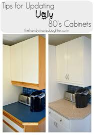 How To Paint Kitchen Cabinet Hardware Tips For Updating 80 U0027s Kitchen Cabinets The Handyman U0027s Daughter