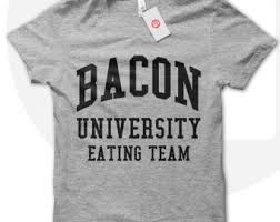 bacon t shirt etsy