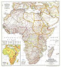 Africa Geography Map by Africa And The Arabian Peninsula Map