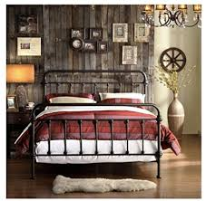 Iron Rod Bed Frame Wrought Iron Bed Frame Bronze Metal Size