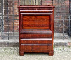 biedermeier secretary desk in mahogany u2013 sold antyki meble