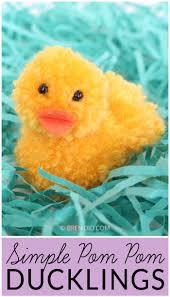simple pom pom ducklings for spring fun bren did