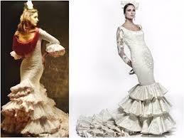 robe de mariã e espagnole look de mariée à la mode flamenco