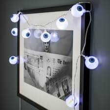 Battery Powered Halloween Lights by 10 Halloween Eyeball Battery Operated Led Fairy Lights By