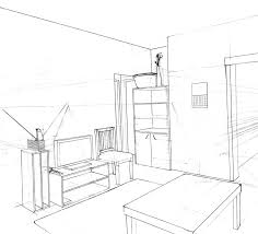draw a room very methodical and accurate interiors in perspective pinterest
