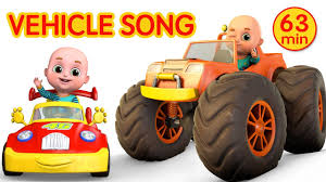 car videos monster trucks vehicle song nursery rhymes