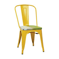Yellow Bistro Chairs Work Smart Bristow Yellow And Pine Metal Wood Side Chair