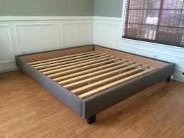 Platform Bed Frame With Headboard King Bed Frame Headboard Platform Bed Frame No Headboard Regarding