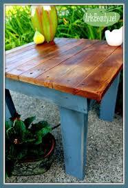 Comment Fabriquer Un Salon De Jardin Avec Des Palettes by Comment Construire Une Petite Table Vintage Pour Le Jardin En