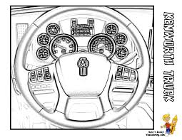 truck coloring page of a kenworth truck steering wheel add other