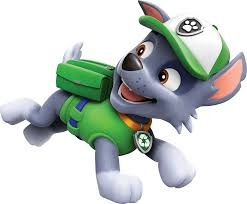paw patrol halloween background rocky running paw patrol clipart png