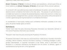 100 non disclosure document template nda agreement document