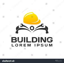 Home Improvement Logo Design Building Vector Icon Construction Helmet Vector Stock Vector