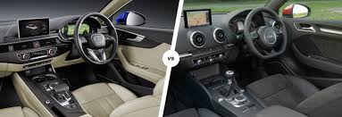 audi dashboard 2017 audi a4 vs a3 saloon sibling showdown carwow