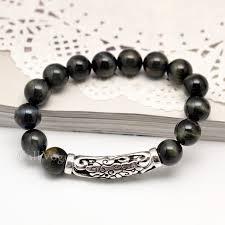 sterling silver charm bead bracelet images Cloud silver charm tigers eye beaded bracelets callvogue jpg