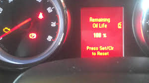 vauxhall astra oil service light message rest youtube