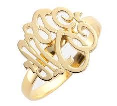 Monogram Rings Gold Rings U2013 Bettina U0027s Collection
