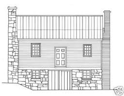 house plans for a traditional saltbox in wood and stone ebay