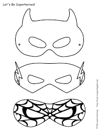 Free Printable Halloween Invitations Kids Superhero Activities Free Superhero Masks To Color Superhero