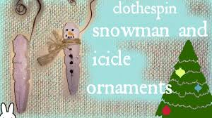 diy clothespin snowman and icicle ornament tutorial how to make