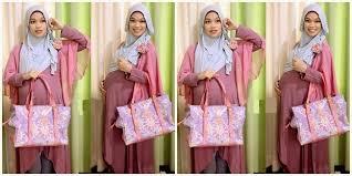 desain baju gamis hamil tips dan contoh busana muslim untuk wanita hamil