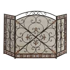 leigh country fleur de lis fireplace screen hayneedle