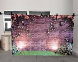 wedding backdrop pictures vintage brick wall background wedding lawn photography backdrop