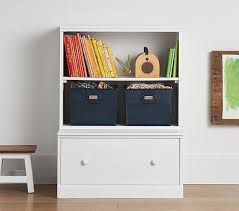 Bookcase With Drawers Cameron Bookcase Cubby U0026 Drawer Base Set Pottery Barn Kids