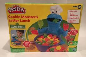 cookie monsters and lunches on sesame play doh cookie s letter