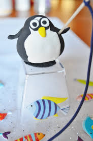 winter penguin ice fishing craft with crayola model magic