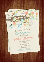 teal and coral bridal shower invitation with by 3peasprints