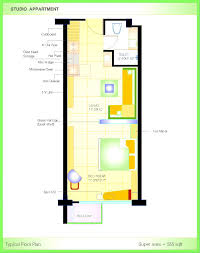 Small Studio Floor Plans by Apartments Knockout Apartment Small Studio Floor Plans One