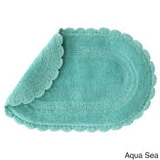 Cotton Reversible Bathroom Rug Soft And Absorbent Cotton Reversible Aqua Sea Bath Rug With