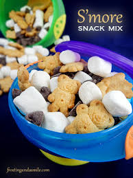 easy s u0027more snack mix is an easy recipe for kids to make it u0027s a
