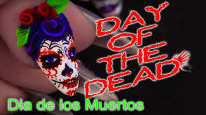 day of the dead sugar skulls nail art tutorial youtube