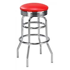 red retro swivel counter stools w chrome bases