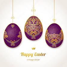 golden ornamental eggs for your easter design stock vector