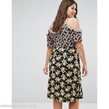 plus size dresses new look plus new look plus mixed print cold