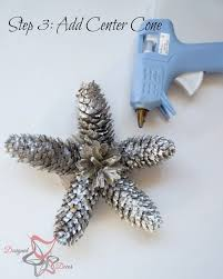 diy pine cone ornaments decorating on a budget part 4
