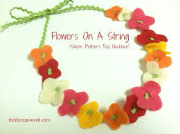s day necklace toddler approved flowers on a string simple s day necklace