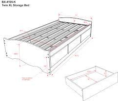 twin platform storage bed twin xl platform storage bed 3 drawers by prepac
