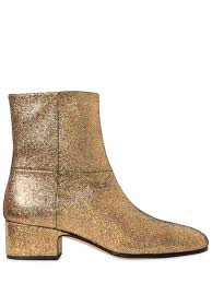 buy womens leather boots joseph 40mm crackled metallic leather boots gold shoes