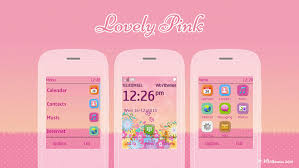 themes for nokia c2 touch and type lovely pink theme asha 300 x3 02 touch type
