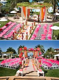 Indian Wedding Mandap Rental I Love Outdoor Weddings Switch The Colors To Purple And Green