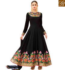 dress designer buy new neck bridal wear designer black anarkali salwar