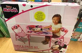 Minnie Mouse Table And Chairs Kids U0027 Activity Table U0026 Chairs Sets 19 99 At Kohl U0027s Reg 39 99